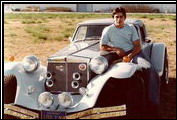 Alfred DiMora poses with a Clenet Series I he modified, the only vehicle with four horns through the grill instead of two horns on the fenders.